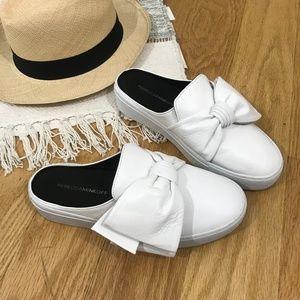 Rebecca Minkoff Neva Mule Slip-On Sneakers w Bow